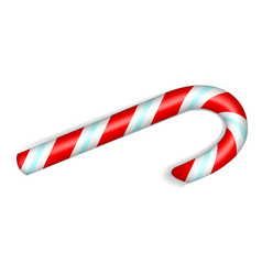 Xmas candy stick icon realistic style vector