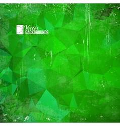Green triangle vector