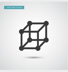 molecule icon simple vector image