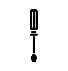 screwdriver line icon black vector image