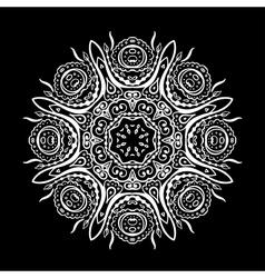 Set of floral elements Lace flowers vector image