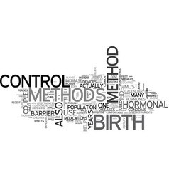 A rundown on the birth control methods text word vector