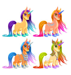 baby unicorns for luck protection and inspiration vector image vector image