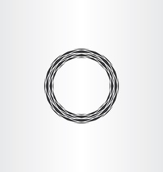 black circle ring abstract background vector image vector image