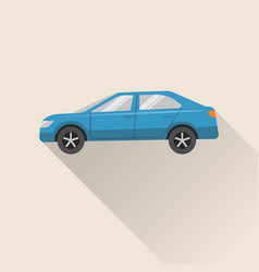 flat style car icon vector image
