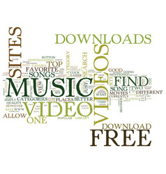 Free music video downloads text background word vector