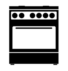kitchen stove the black color icon vector image