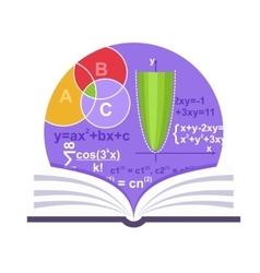 Mathematics Emblem vector image