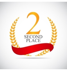 Second Place Laurel Design Label vector image vector image