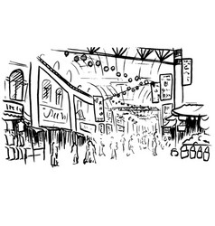 sketch of chinatown vector image vector image
