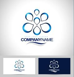 Water Logo Design Creative vector image vector image