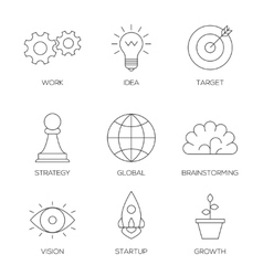 Business creative process icons vector image vector image