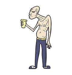 comic cartoon hooligan vector image