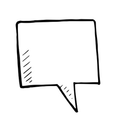 Hand drawn bubble speech doodle isolated vector image
