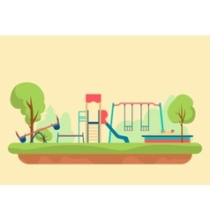 Kids playground flat style Set of design elements vector image vector image
