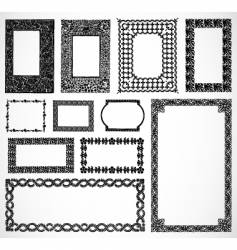 ornate border frames vector image vector image