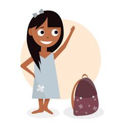 schoolgirl character design for animation girl vector image vector image
