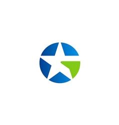 star abstract symbol unusual logo vector image vector image