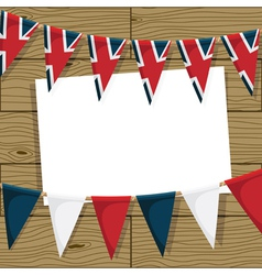 uk bunting decoration vector image vector image