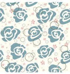 Vintage Roses Pattern vector image vector image