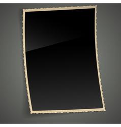 Empty Vintage Photo Frame Background vector image