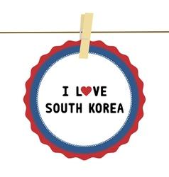 I lOVE SOUTH KOREA4 vector image