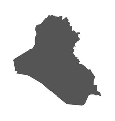 iraq map black icon on white background vector image vector image