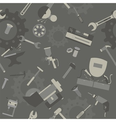 Metal work tools background seamless pattern vector