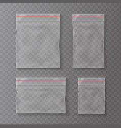 plastic pockets transparent bag isolated vector image vector image