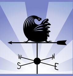 weathervane - running rooster 5 vector image