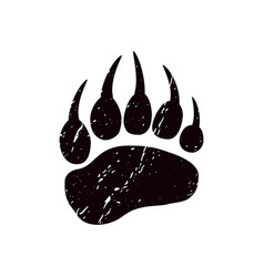 A trace bear black silhouette paw vector