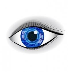 abstract eye vector image vector image