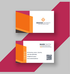Abstract geometric business card professional vector