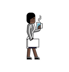african businesswoman with business documents vector image
