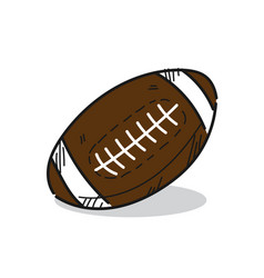 american football on a white vector image