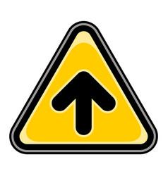 arrow upload sign triangular sticker vector image