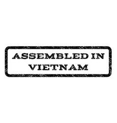 assembled in vietnam watermark stamp vector image
