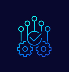 Automation or optimization icon linear vector