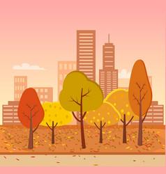 Autumn park represented vector