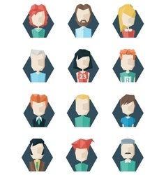 Avatars icons polygon style vector image