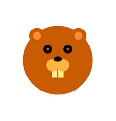 beaver cartoon animal head vector image