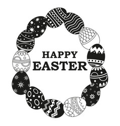 Black and white easter poster vector