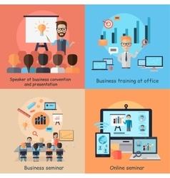 Business Online Seminar Banner Concept vector