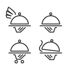 catering logo icons vector image
