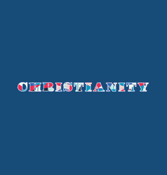 Christianity concept word art vector