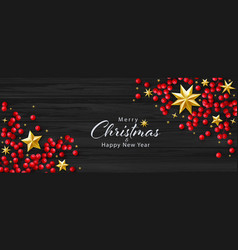 christmas background with realistic vector image