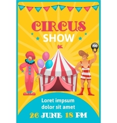 Circus Show Colorful Poster vector