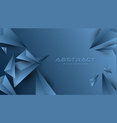 classic blue abstract geometric background modern vector image