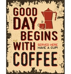 Coffee vintage poster vector