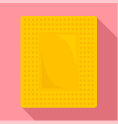 Contraceptive patch icon flat style vector